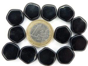 0010012 Zwart 5 kantige platte schijf 12 Pc.-0