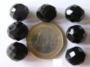 0010407 Zwart facet geslepen 12 mm.-0