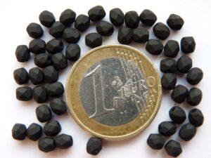 0010421 Frosted (Mat) zwart facet 4 mm.-0