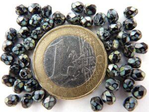 0010465 Zwart facet met travertin 4 mm.-0