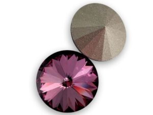 12 mm. 001 ANTP Crystal Antique Pink 1122 Swarovski Rivoli-0