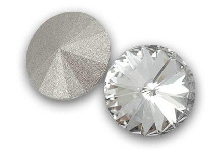 12 mm. 001 Crystal Foiled 1122 Swarovski Rivoli-0