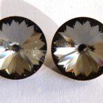 12 mm. 001 SINI Crystal Silver Night 1122 Swarovski Rivoli-0