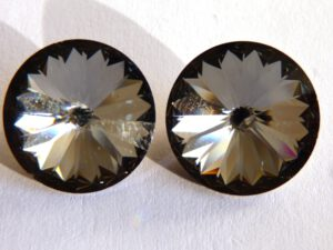 12 mm. 001 SINI Crystal Silver Night 1122 Swarovski Rivoli-0