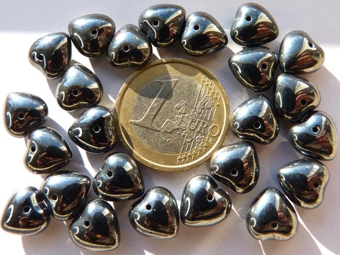 0020075 Hematiet kleurig hartvormig-0