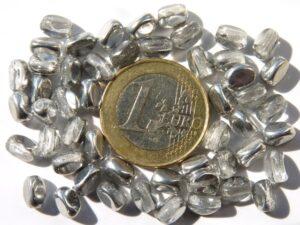 PI-7-00030-27001 Crystal half Silver Pinch Beads 10 gram-0