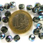 0020208 Montana Blue met AB, facet 6 mm. 25 stuks-0