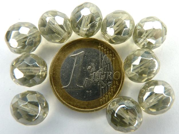 0020232 Black diamond facet met hematiet glans 10 mm.-0