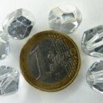 0020237 Crystal nugget facet met half zilveren coating 12 mm.-0