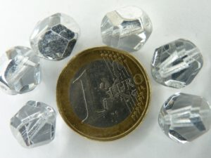 0020237 Crystal nugget facet met half zilveren coating 12 mm.-0
