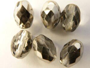 0020247 Crystal - Half Steel Ovaal facet 13 x 9,5 mm.-0