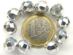 0020262 Full Silver Facet 10 mm. 10 stuks-0