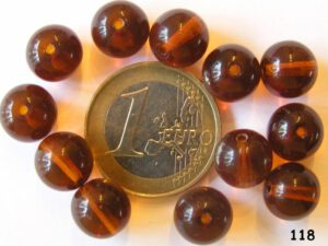 0030014 Dark Topaz Round 10 mm. 12 Pc.-0