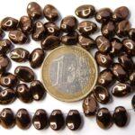 0030098 Dark copper short daggerbead, Tulip Petal 30 Pc.-0