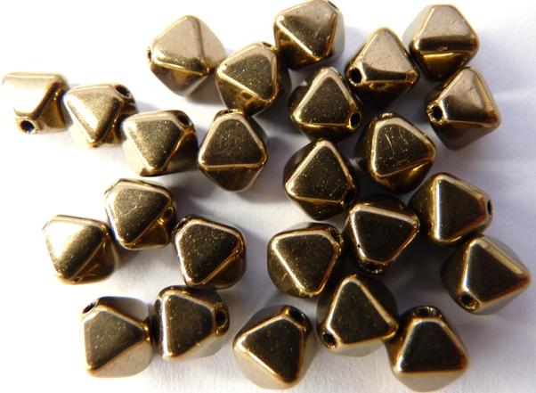 0030103 Brons/Gold dubbele piramides-0