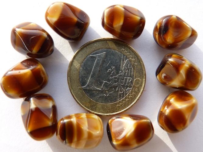 0030115 Tijgeroog bruin, nuggetvorm.-0