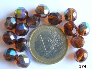 0030210 Donkerbruin facet met AB, 8 mm.-0