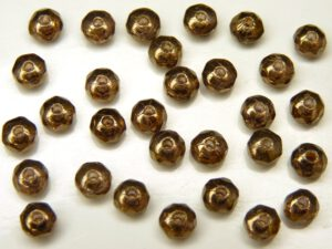 0030225 Crystal Lila Gold Luster facet Rondelle 3 x 2 mm. 30 Pc.-0