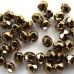 0030237 Gold/Bronze facet 4 mm.-0