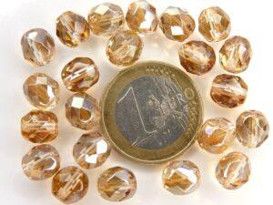 0030245 Crystal Half Celsian facet 8 mm. 15 Pc.-0