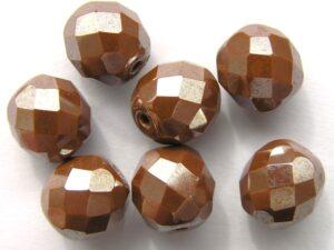 0030260 chocoladebruin facet met zijdeglans 10 mm.-0