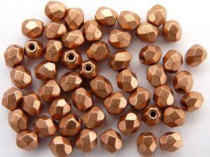 0030263 Matte metallic Copper facet 4 mm.-0
