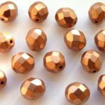 0030265 Matte Metallic Copper facet 8 mm. 15 Pc.-0
