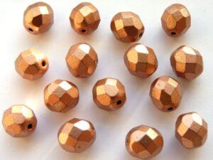 0030265 Matte Metallic Copper facet 8 mm. 15 Pc.-0