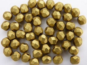 0030268 Matte Metallic Aztec Gold facet, 4 mm. 50 Pc.-0