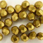 0030269 Matte Metallic Aztec Gold facet, 6 mm.-0