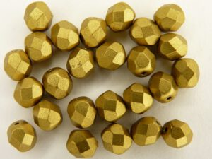 0030269 Matte Metallic Aztec Gold facet, 6 mm.-0
