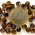 0030287 Topaz-Blue Iris facet, 6 mm. 25 stuks-0