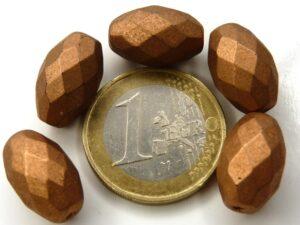 0030295 Silky Bronze/Copper Oval Facet 15 x 10 mm. 5 Pc.-0