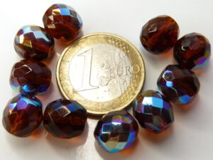 0030297 Dark Topaz AB facet 10 mm. 10 Pc.-0