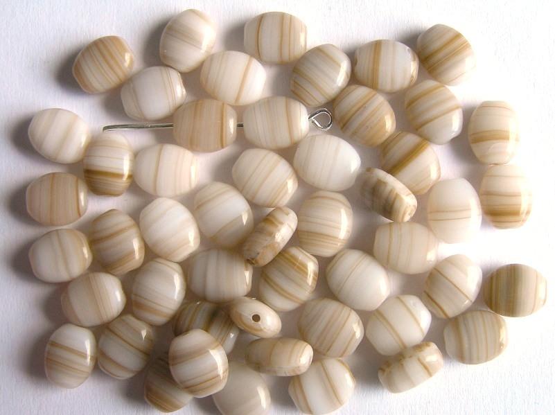 0040035 Beige/bruin met wit ovaaltje-0