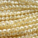 0040082 Ivory Pearl facet geslepen 4 mm. 40 stuks-0