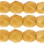 0040229 Silky Light Topaz facet 4 mm. 50 stuks-0
