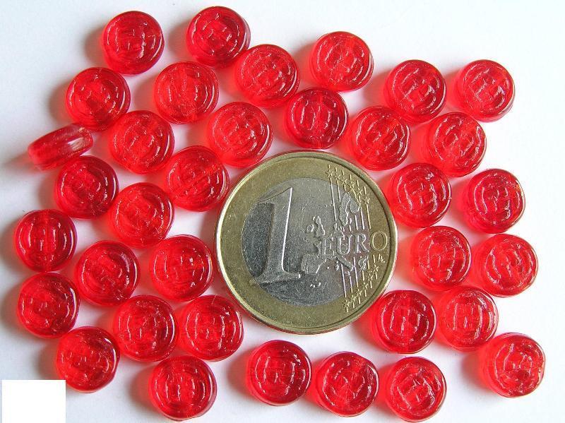 0050032 Helder rood rond schijfje.-0