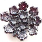 0050067 Garnet-hematite bloem. 12 Pc.-0