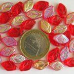 0050040 Rode blaadjes met luster.-0