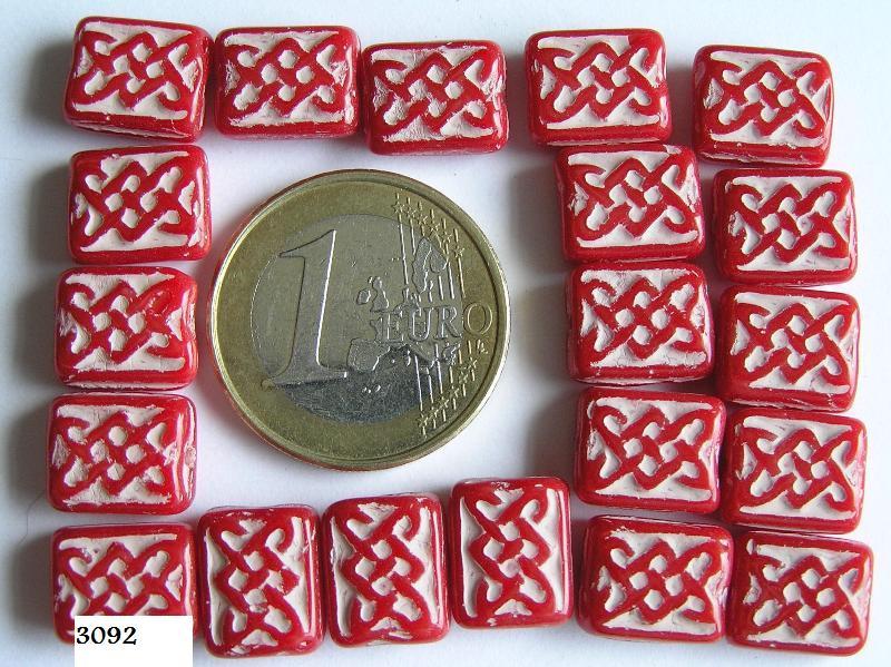 0050074 Dekkend rood met wit, rechthoek, met een werkje-0