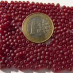 0050078 Mat Dark Siam Ruby 3 mm. 200 stuks-0