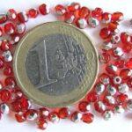0050204 Light Siam ( rood)facet met half zilverkleur 3 mm-0