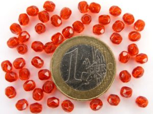 0050205 Light Siam Ruby (rood) facet geslepen, firepolished 4 mm.-0