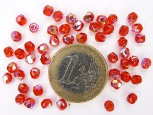 0050207 Siam Red AB facet 4 mm. 50 Pc.-0
