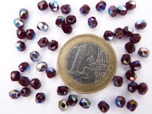 0050213 Garnet ( robijnrood) facet met AB 4 mm.-0