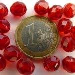 0050223 Siam Ruby facet, firepolished 8 mm. 15 Pc.-0