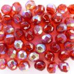 0050224 Siam Ruby facet met AB 8 mm.-0