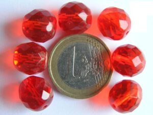 0050231 Light Siam (rood) facet 12 mm.-0