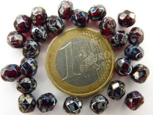 0050239 Garnet - Silver Picasso facet, 6 mm.-0